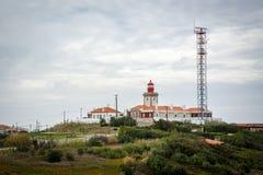 Widok na Cabo da Roca przylądku Roca, przylądek który tworzy westernmost zakres stały ląd Portugalia i kontynentalny Europa Fotografia Stock
