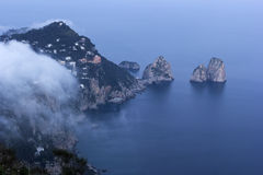 Widok na Capri w Włochy Obraz Royalty Free