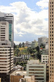 Widok na centrum miasta budynkach w Brisbane, Australia, 25 augus Zdjęcie Royalty Free
