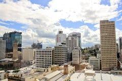 Widok na centrum miasta budynkach w Brisbane, Australia, 25 augus Zdjęcie Stock