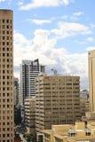 Widok na centrum miasta budynkach w Brisbane, Australia, 25 augus Zdjęcia Royalty Free