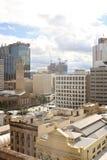 Widok na centrum miasta budynkach w Brisbane, Australia, 25 augus Fotografia Stock