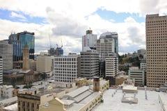Widok na centrum miasta budynkach w Brisbane, Australia, 25 augus Obrazy Stock