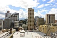 Widok na centrum miasta budynkach w Brisbane, Australia, 25 augus Obraz Stock