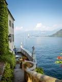 Widok na Como jeziorze, Włochy Zdjęcie Royalty Free