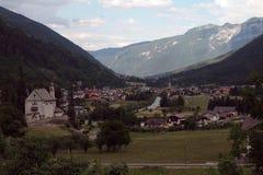 Widok na Cusiano Włochy obrazy royalty free