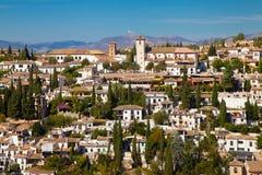 Widok na części Granada Zdjęcie Stock