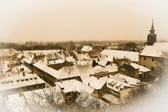 Widok na dachach hauses w Petrovaradin Novi Sad Obraz Royalty Free
