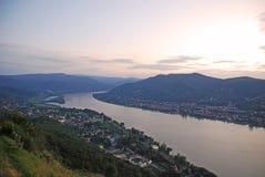 Widok na Danube rzece Zdjęcie Stock