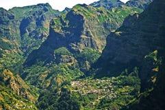 Widok na dolinie magdalenki, madery wyspa, Portugalia zdjęcia royalty free