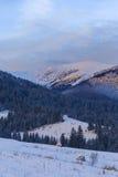 Widok na dolinie przy świtem Obrazy Royalty Free