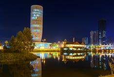 Widok na domu sprawiedliwość przy nocą Batumi Gruzja Obrazy Stock