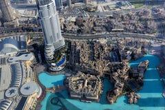 Widok na Dubaj od Burj Khalifa zdjęcie royalty free