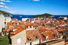 Widok na Durbrovnik, Chorwacja obrazy stock