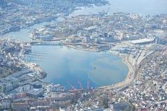 Widok na górze w Bergen, Norwegia Obraz Royalty Free