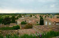 Widok na Grignan budynków dachach Obraz Royalty Free