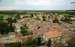 Widok na Grignan budynków dachach Zdjęcie Royalty Free