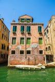 Widok na historycznej architekturze i kanale fotografia stock