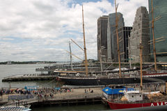 Widok na Hudson Miasto Nowy Jork Obraz Royalty Free