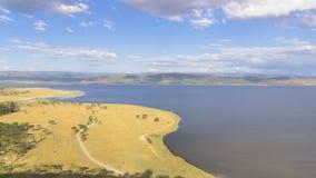 Widok na jeziornym Nakuru obrazy royalty free