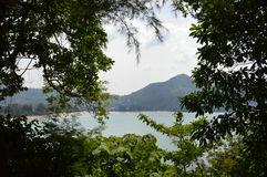 Widok na kamali plaży Phuket Obraz Stock