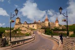 Widok na Kamenetz-Podolsky fotografia royalty free
