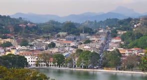 Widok na Kandy mieście, Sri Lanka Fotografia Stock