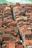 Widok na Katedralnym kwadracie Cefalu od góry nad th obraz royalty free