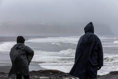 Widok na Kirkjufjara plaży, Iceland Obraz Royalty Free