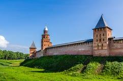 Widok na Kremlin w Veliky Novgorod Obrazy Stock