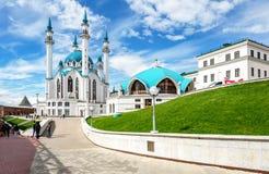 Widok na Kula Sharif meczecie w Kazan Kremlin fotografia royalty free