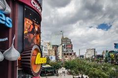 Widok na Las Vegas bulwaru pasku fotografia royalty free