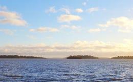 Widok na małych wyspach przy vesteras miastem Zdjęcia Stock