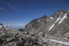 Widok na masywie, niedaleki Trollstigen w Norwegia Fotografia Stock
