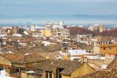 Widok na mieście i kościół w Xativa Fotografia Stock