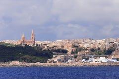 Widok na mieście Mgarr Malta zdjęcia royalty free