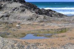 Widok na morzu przy niskim przypływem Zdjęcia Royalty Free