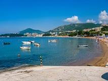 Widok na morzu w Montenegro Obraz Stock