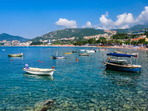 Widok na morzu w Montenegro Zdjęcia Royalty Free