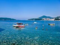 Widok na morzu w Montenegro Fotografia Royalty Free