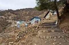 Widok na Namche Bazar, Khumbu okręg, himalaje, Nepal Obrazy Royalty Free