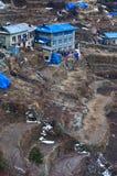 Widok na Namche Bazar, Khumbu okręg, himalaje, Nepal Obrazy Stock