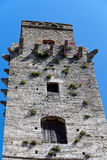 Widok na niektóre sławny wierza w San Gimignano w Toscany w Italy Obrazy Stock