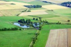Widok na Niemieckim małym jeziorze podczas zmierzchu od above Zdjęcie Royalty Free