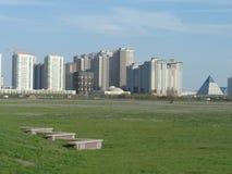 Widok na nowych budynkach zdjęcie stock