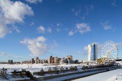 Widok na nowym okręgu Kazan, Rosja Fotografia Stock