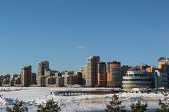 Widok na nowym okręgu Kazan, Rosja Obraz Stock