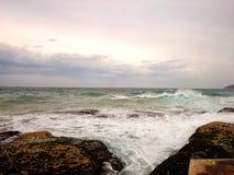 Widok Na Ocean @ kędzioru kędzioru plaża, NSW Australia Obrazy Stock
