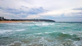 Widok Na Ocean @ kędzioru kędzioru plaża, NSW Australia Zdjęcie Stock
