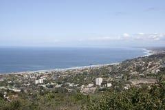 widok na ocean, kalifornia Zdjęcie Stock